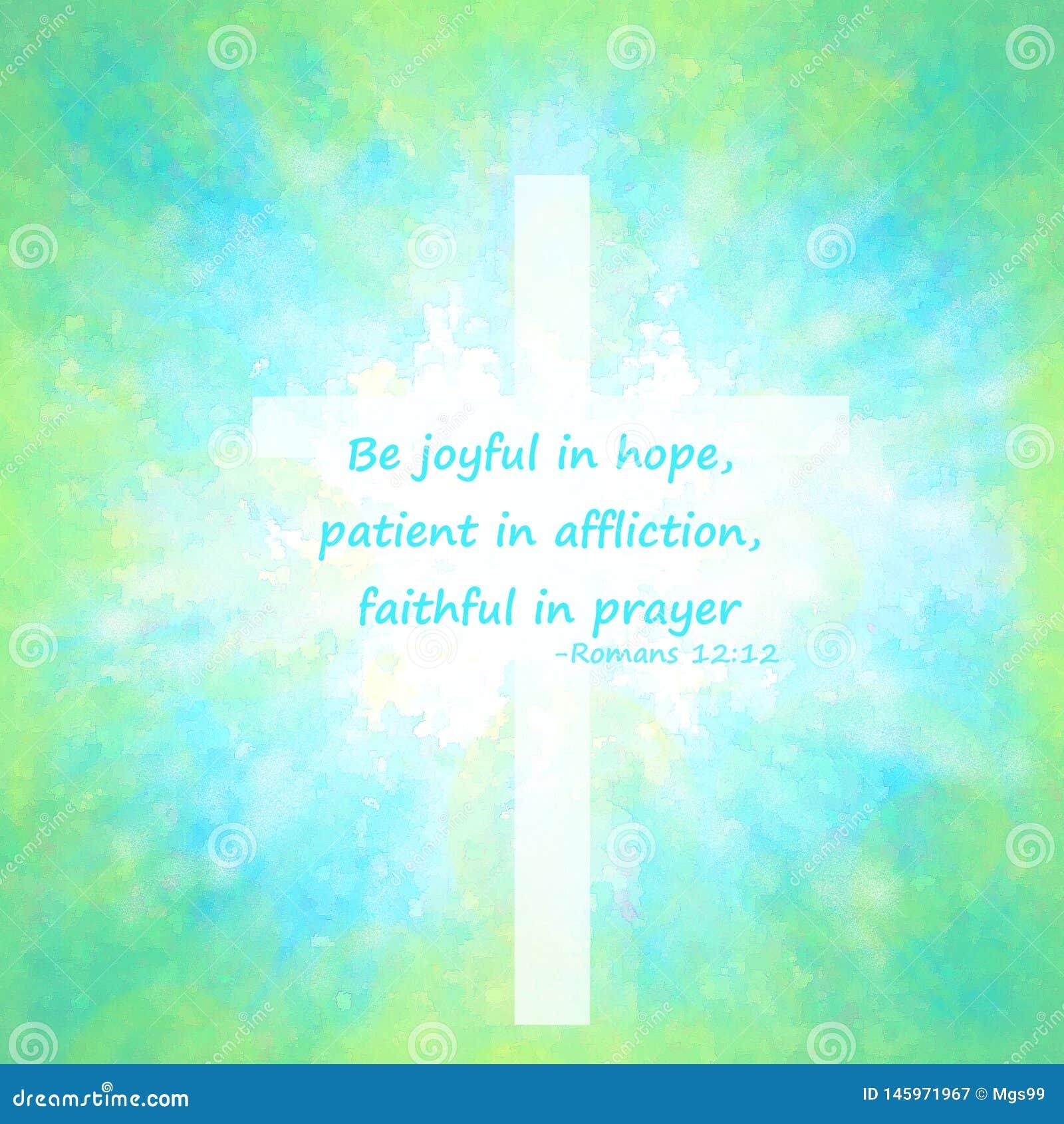 Sia allegro nella citazione della bibbia di speranza