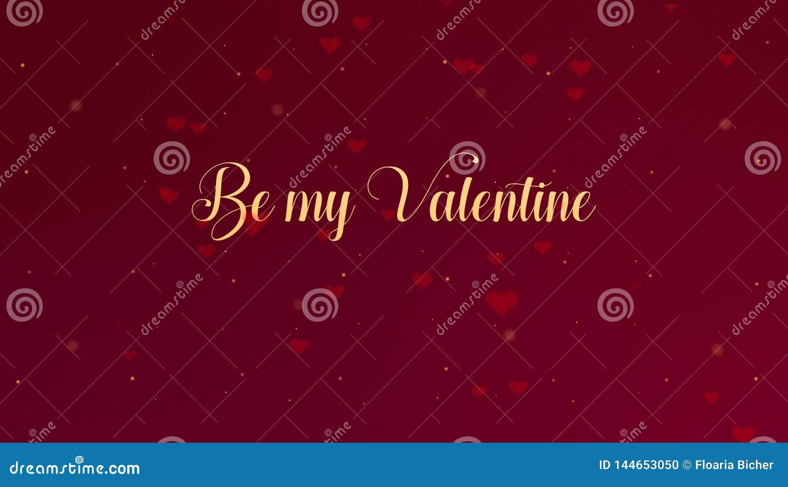 Sia la mia confessione di Valentine Love L iscrizione di San Valentino ? isolata su fondo rosso, che bedecked con piccolo