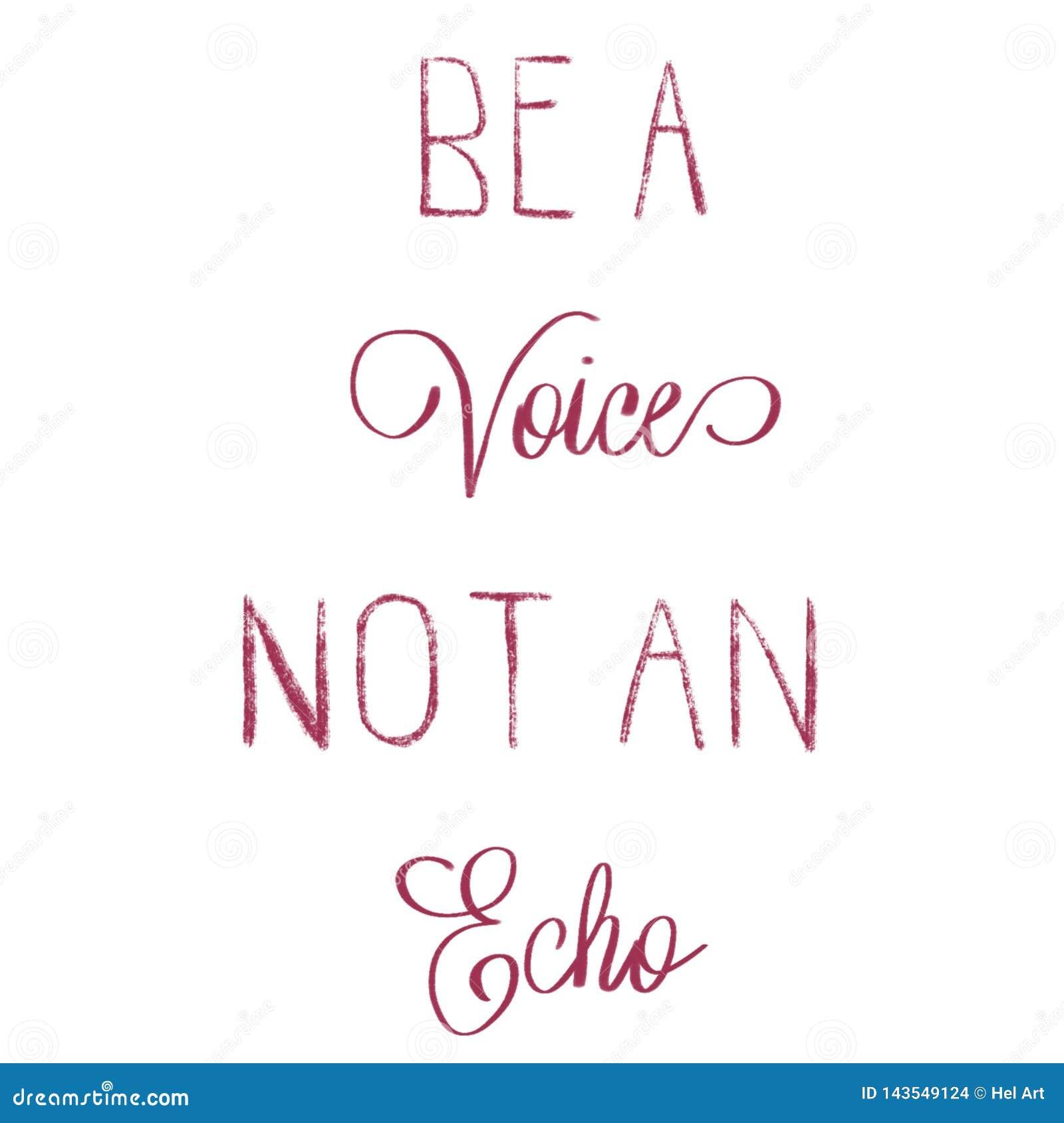 Sia una voce non una citazione indicata da lettere della mano di eco
