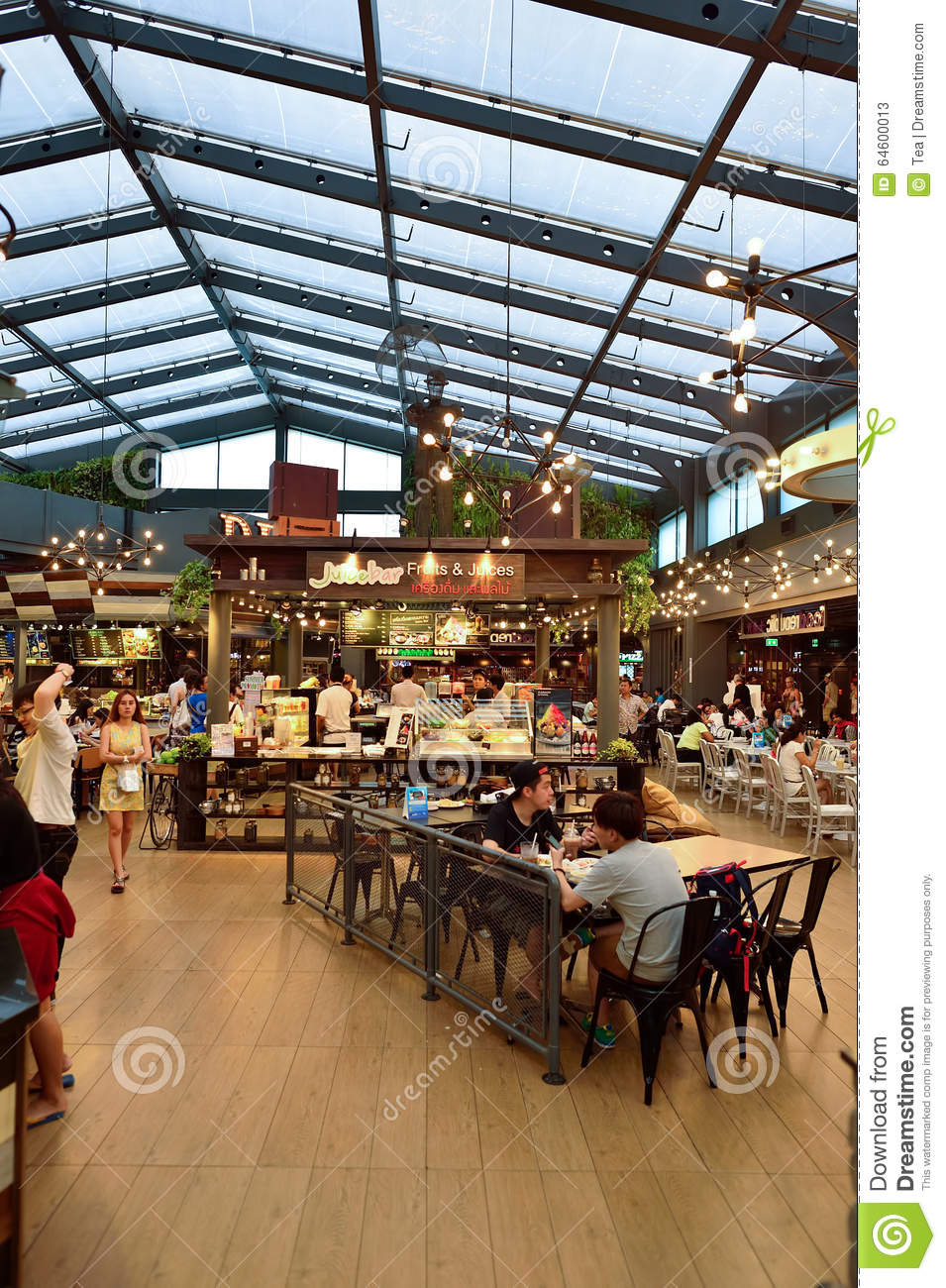 Siam Food Court Interior Editorial Stock Photo Image