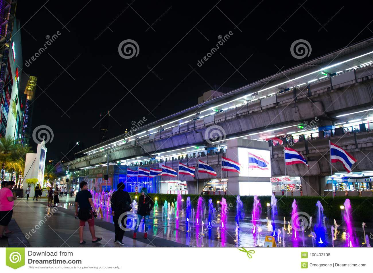 The sky train and front gate at center of siam paragon pride of the sky train and front gate at center of siam paragon pride of bangkok thailand gumiabroncs Gallery