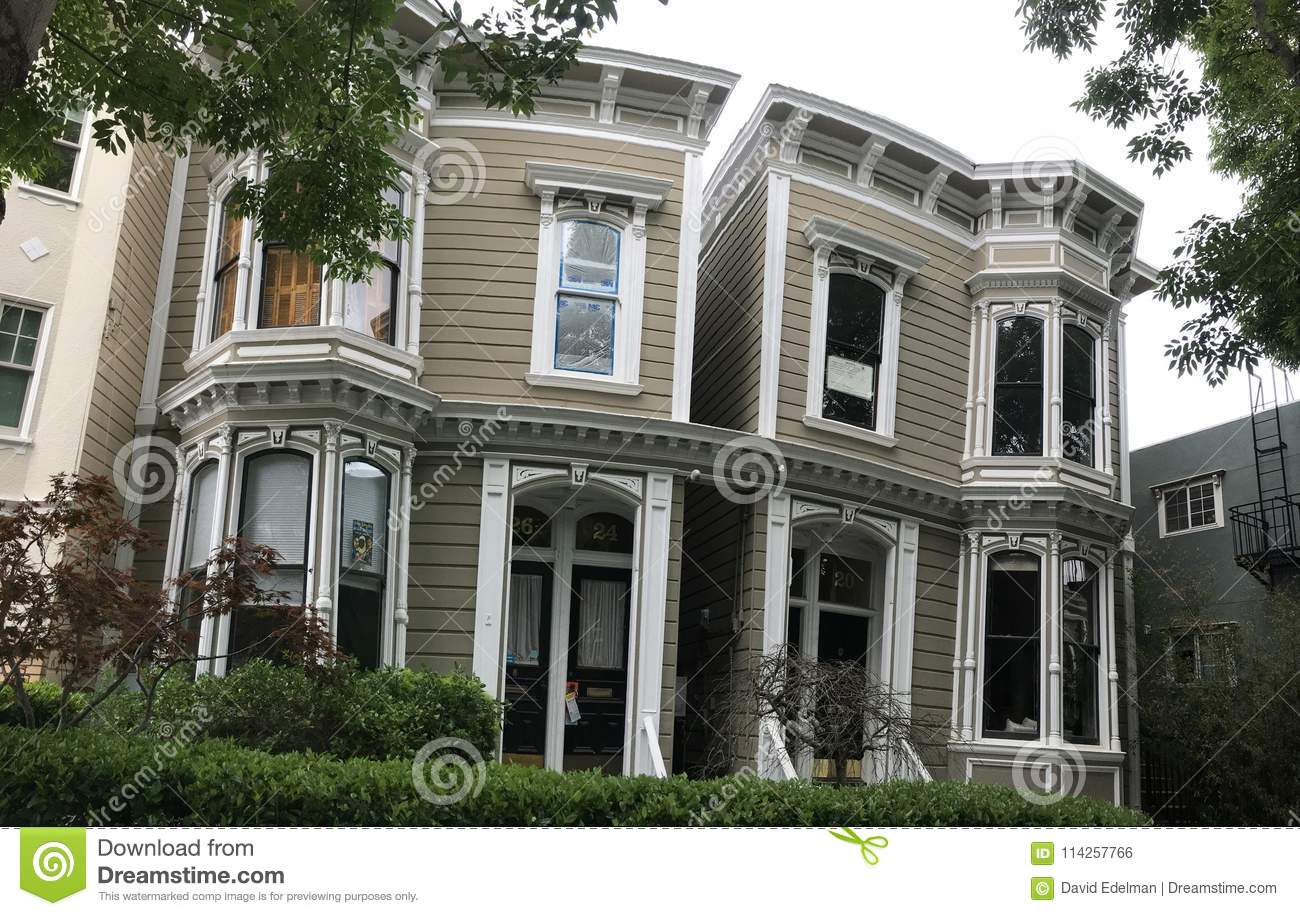 The Siamese Twins House, 20-26 Liberty Street  Editorial