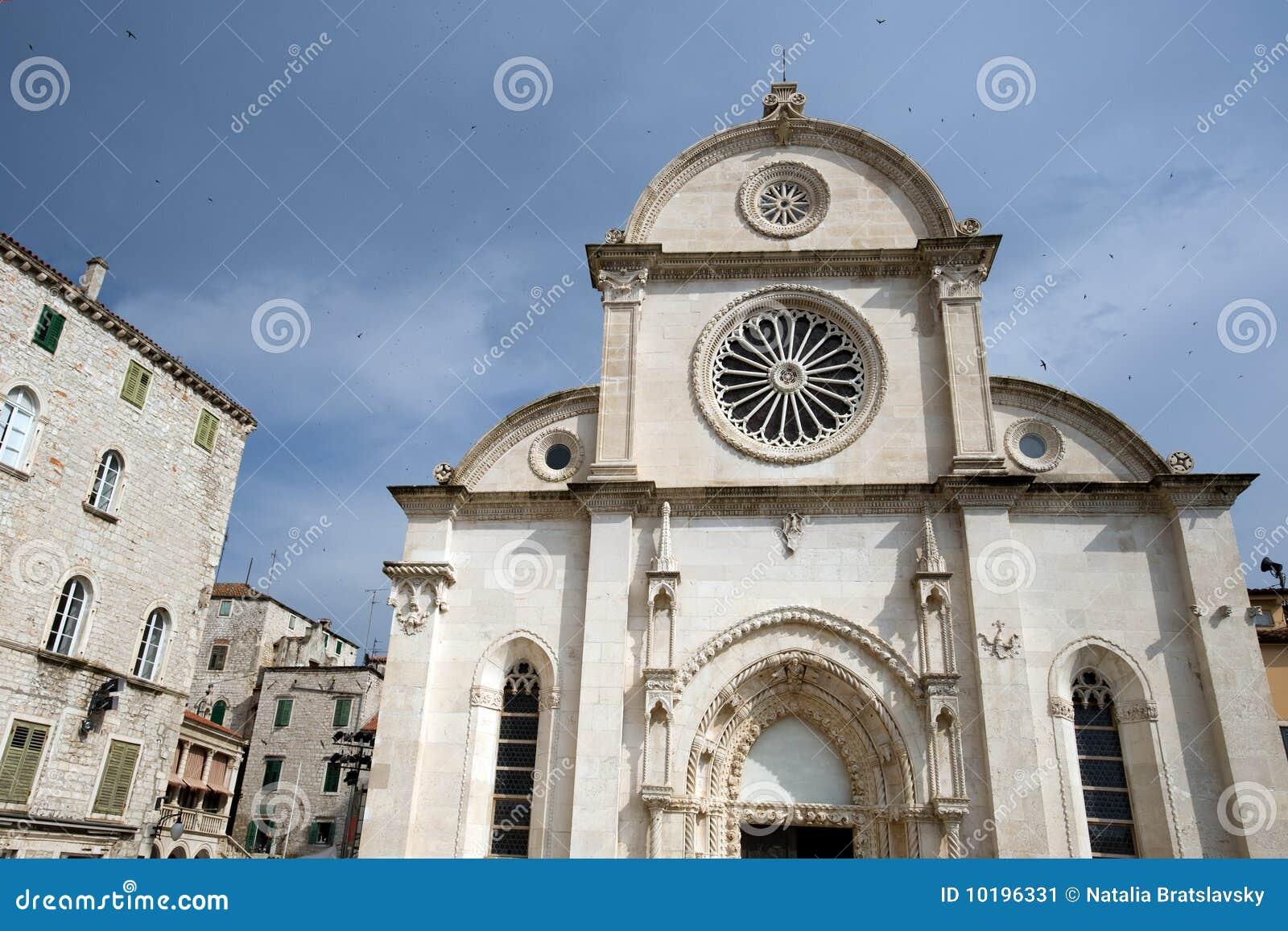 Sibenik Landmarks Stock Image Image 10196331