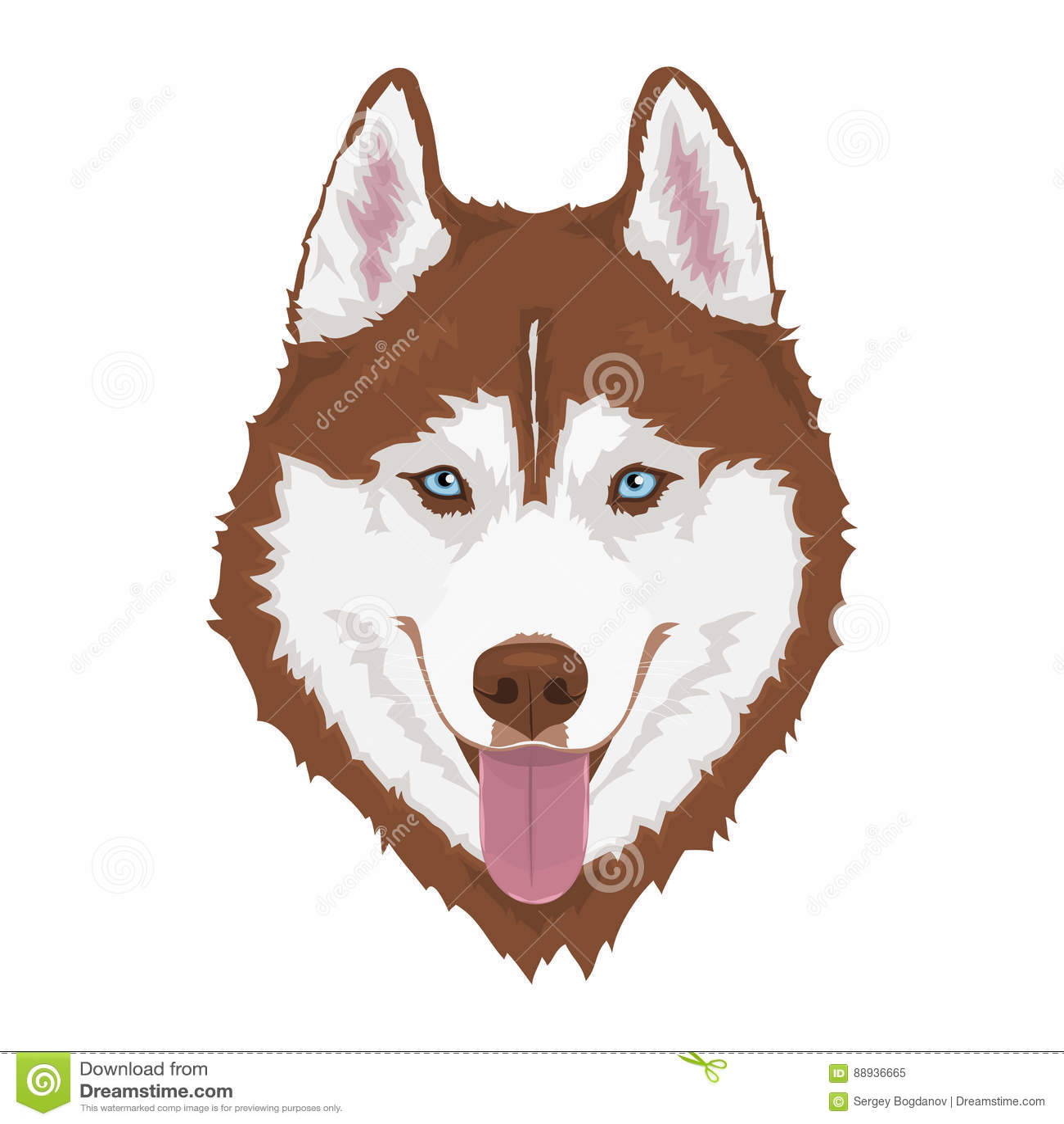 Siberian Husky Dog Stock Vector Illustration Of Canine 88936665