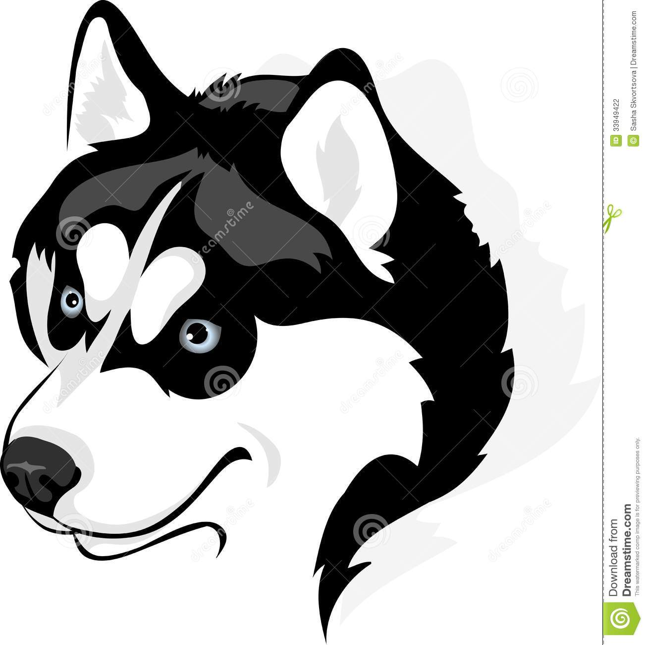 Husky Dog Clipart Husky Dog Head Outline