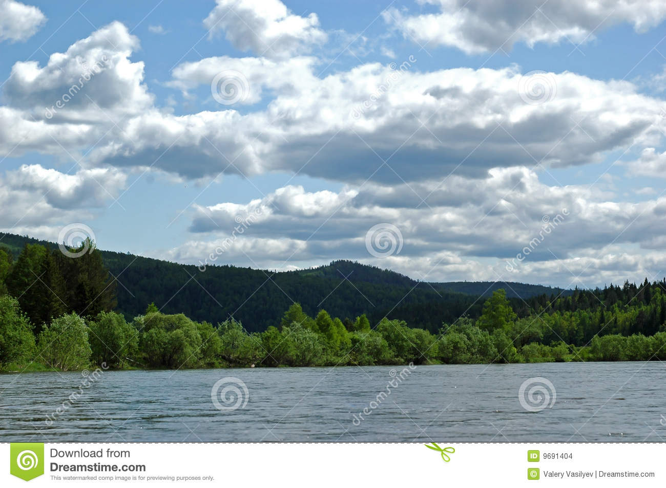 The Siberian mountain river Mana