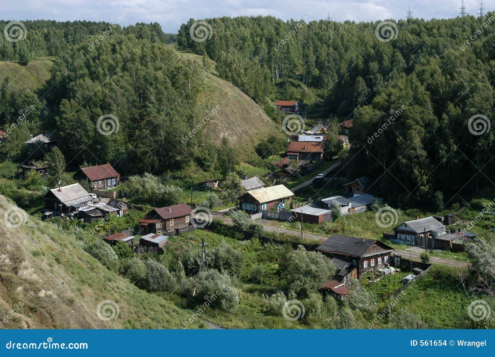 Siberian Village Stock Photo Image Of Izba Fairytale