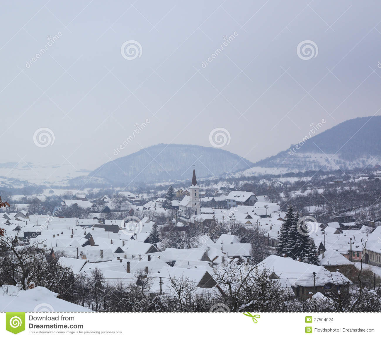 Sibiel in the freezing winter time