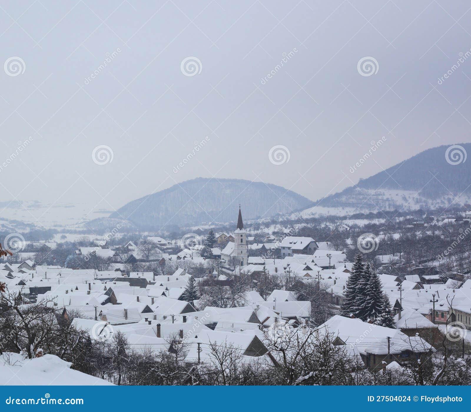 Sibiel no tempo de inverno de congelação