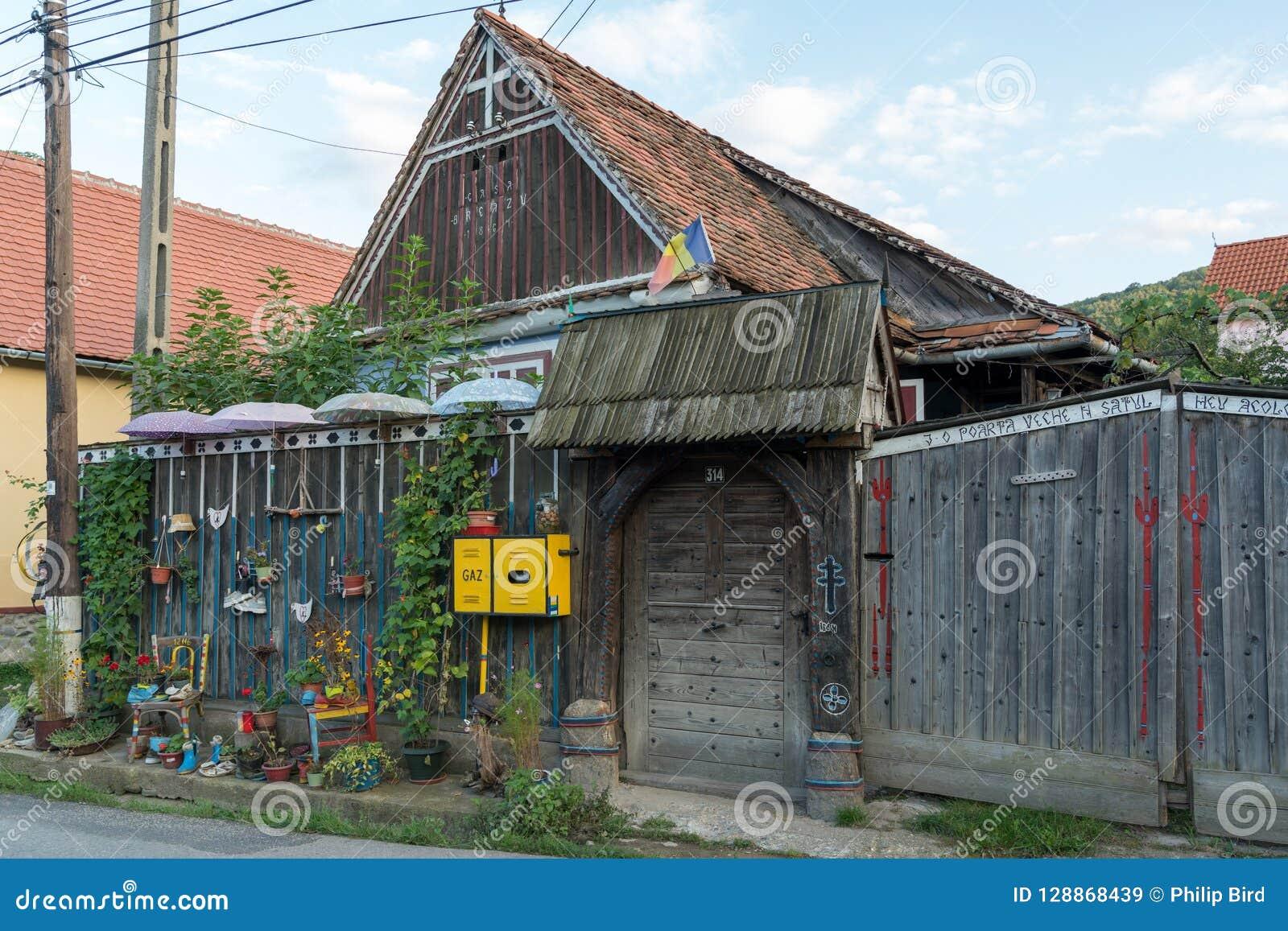 SIBIEL, TRANSYLVANIA/ROMANIA - 16 DE SETEMBRO: Casa estranha em S