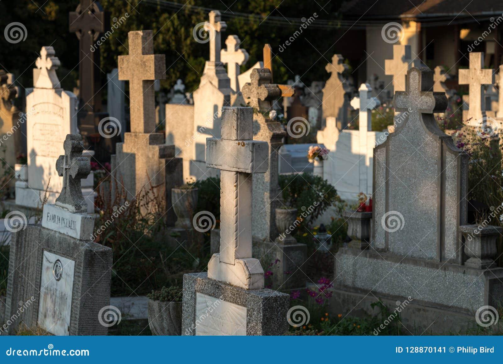 SIBIEL, TRANSYLVANIA/ROMANIA - 16 DE SETEMBRO: Vista do gravey
