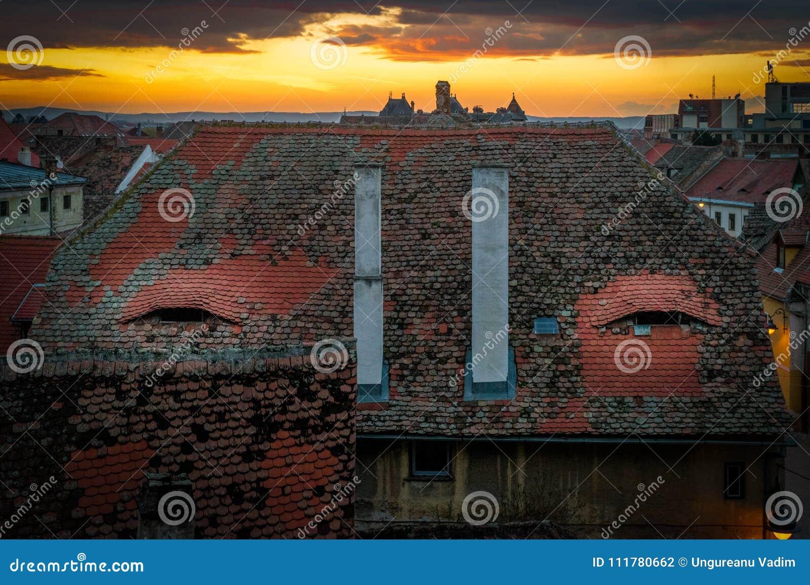 Sibiu, Romania. The city where houses have eyes
