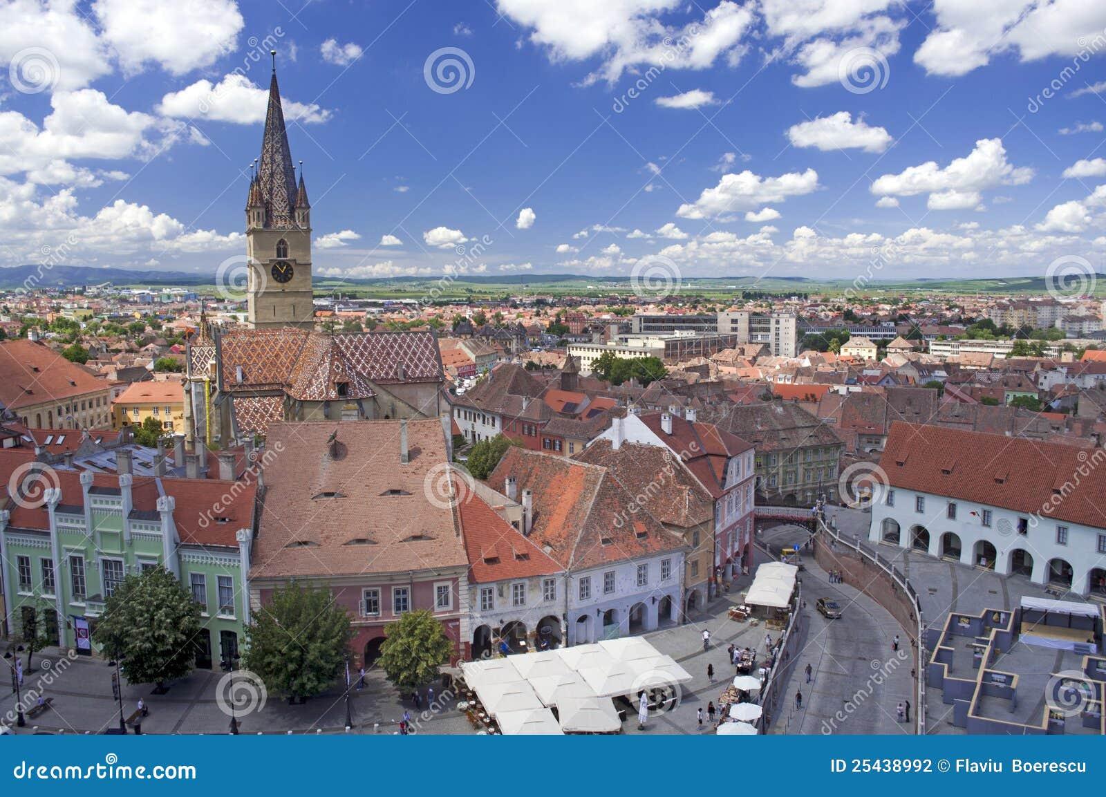 Historical arhitecture in Sibiu Transylvania Romania lutheran ...