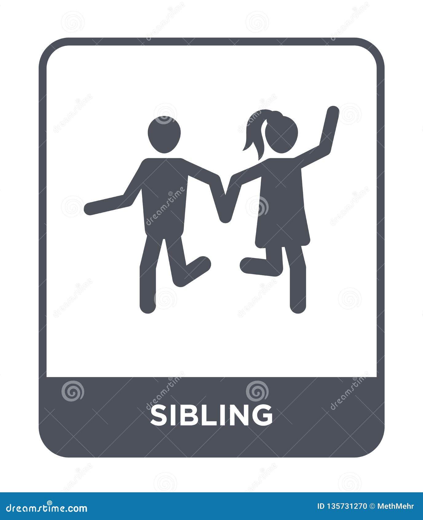Siblingsymbol i moderiktig designstil siblingsymbol som isoleras på vit bakgrund enkelt och modernt plant symbol för siblingvekto
