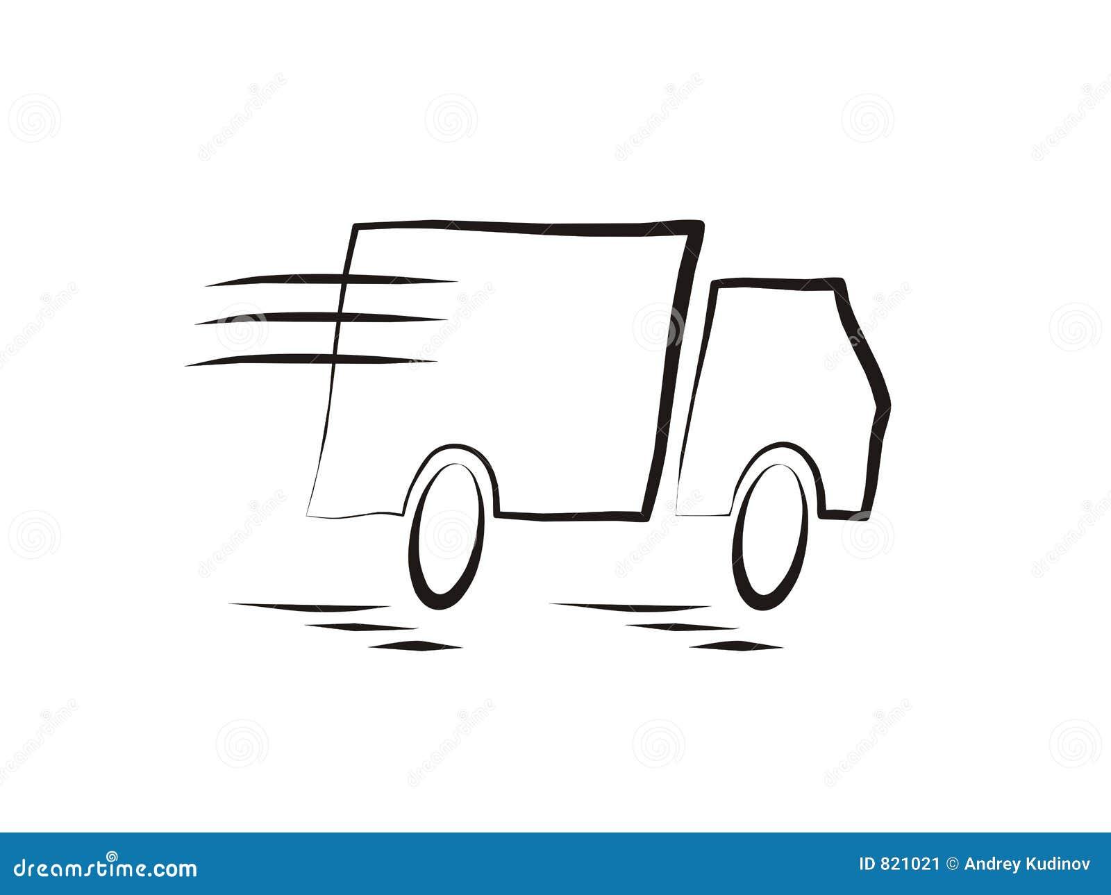 Sich schnell bewegender LKW