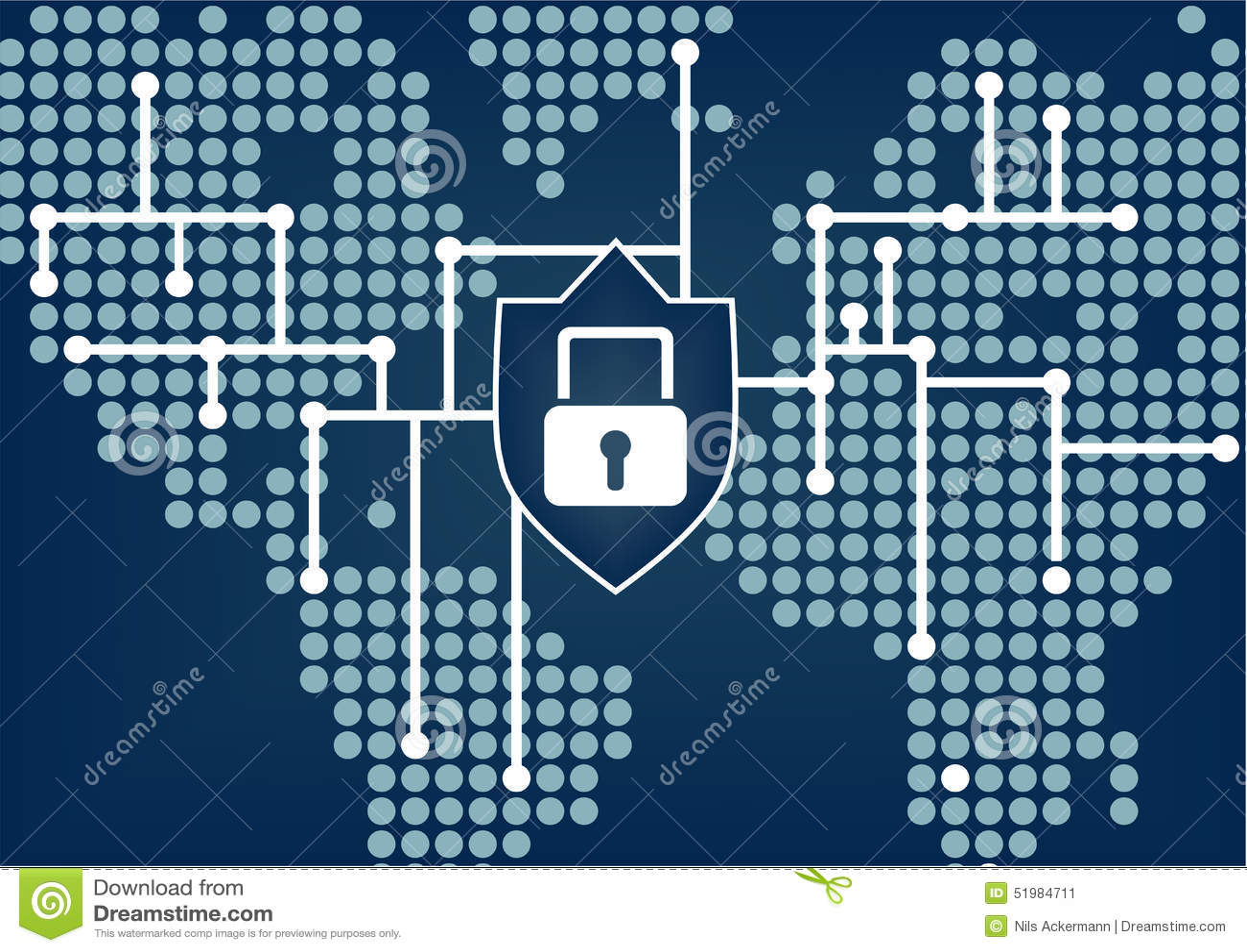 IT-Sicherheit, damit globale Organisation Daten und Netzbrüche verhindert