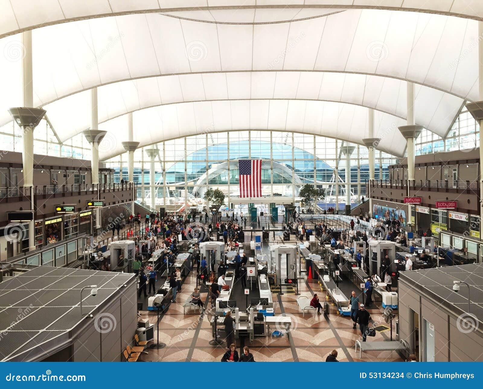 Sicherheits-Siebung am Flughafen