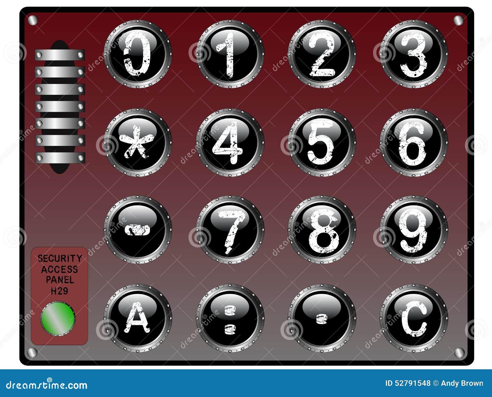 Sicherheits-Tastatur mit Fingerspitzentablett