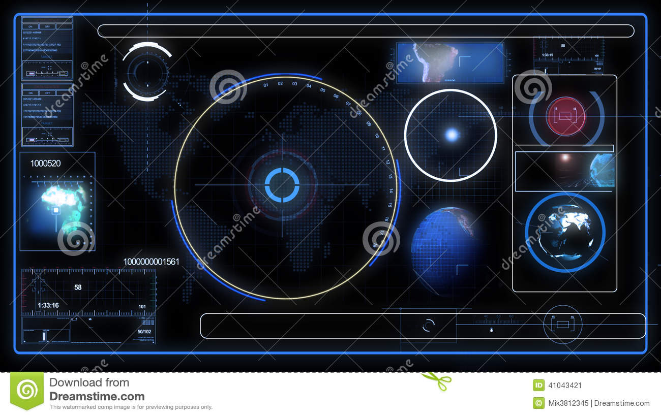 SICIFI Hud Control Panel Stock Illustration - Image: 41043421