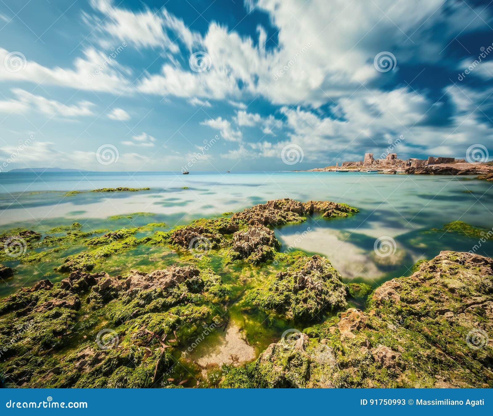 Siciliaanse kust Italië