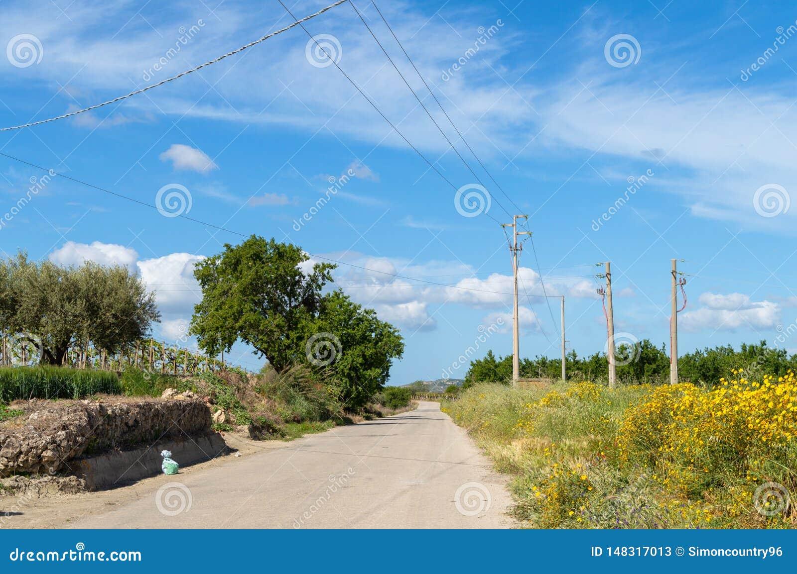 Siciliaanse Landweg, Caltanissetta, Itali?, Europa