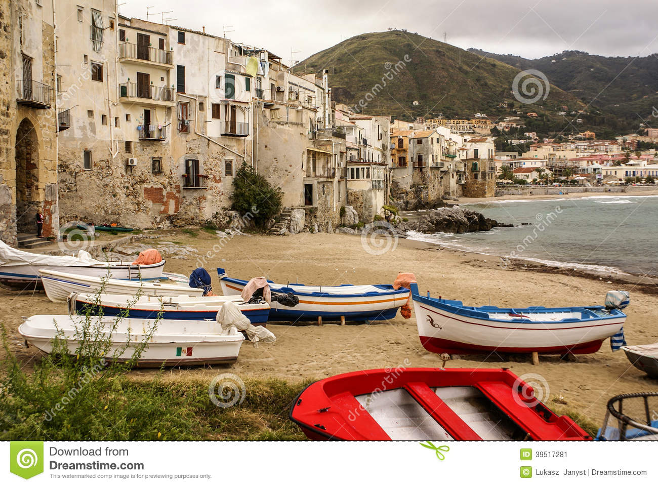 Boat In Cefalu Stock Photography