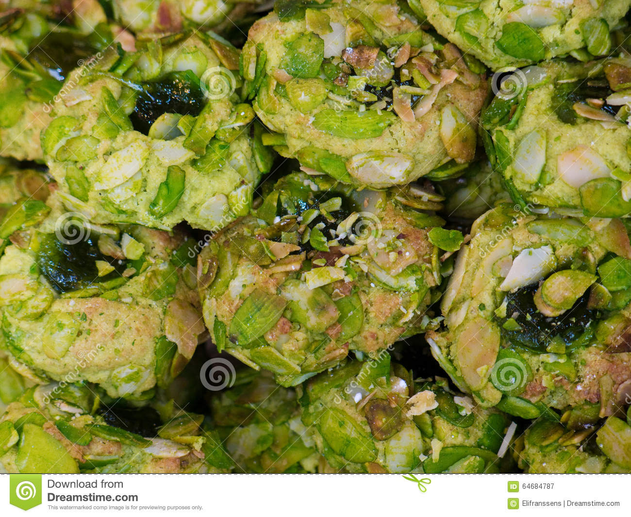 Sicilian Pistachio And Almond Cookies Stock Photo - Image ...