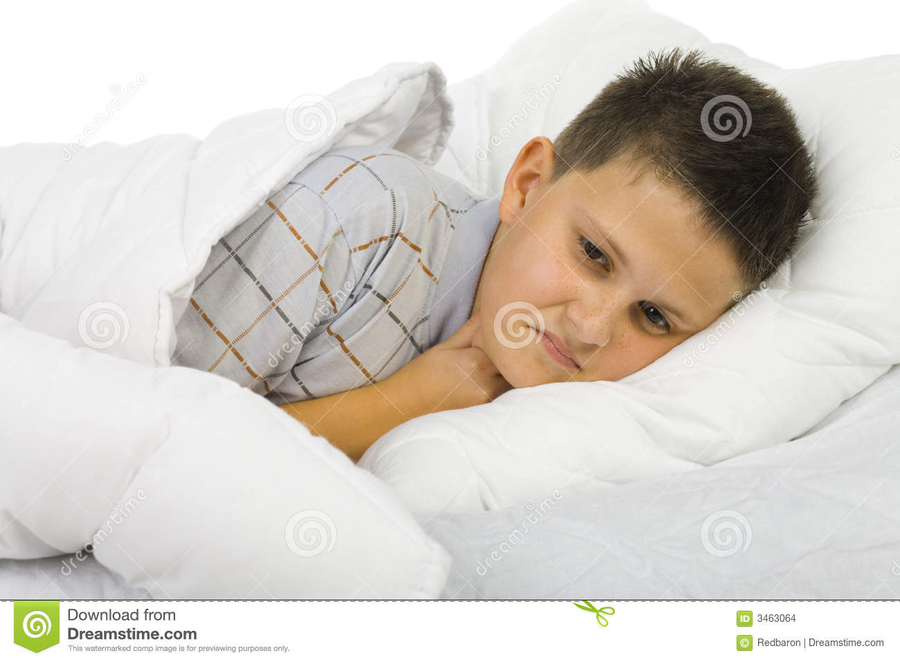 sick boy in bed stock photo image of illness patient 3463064. Black Bedroom Furniture Sets. Home Design Ideas
