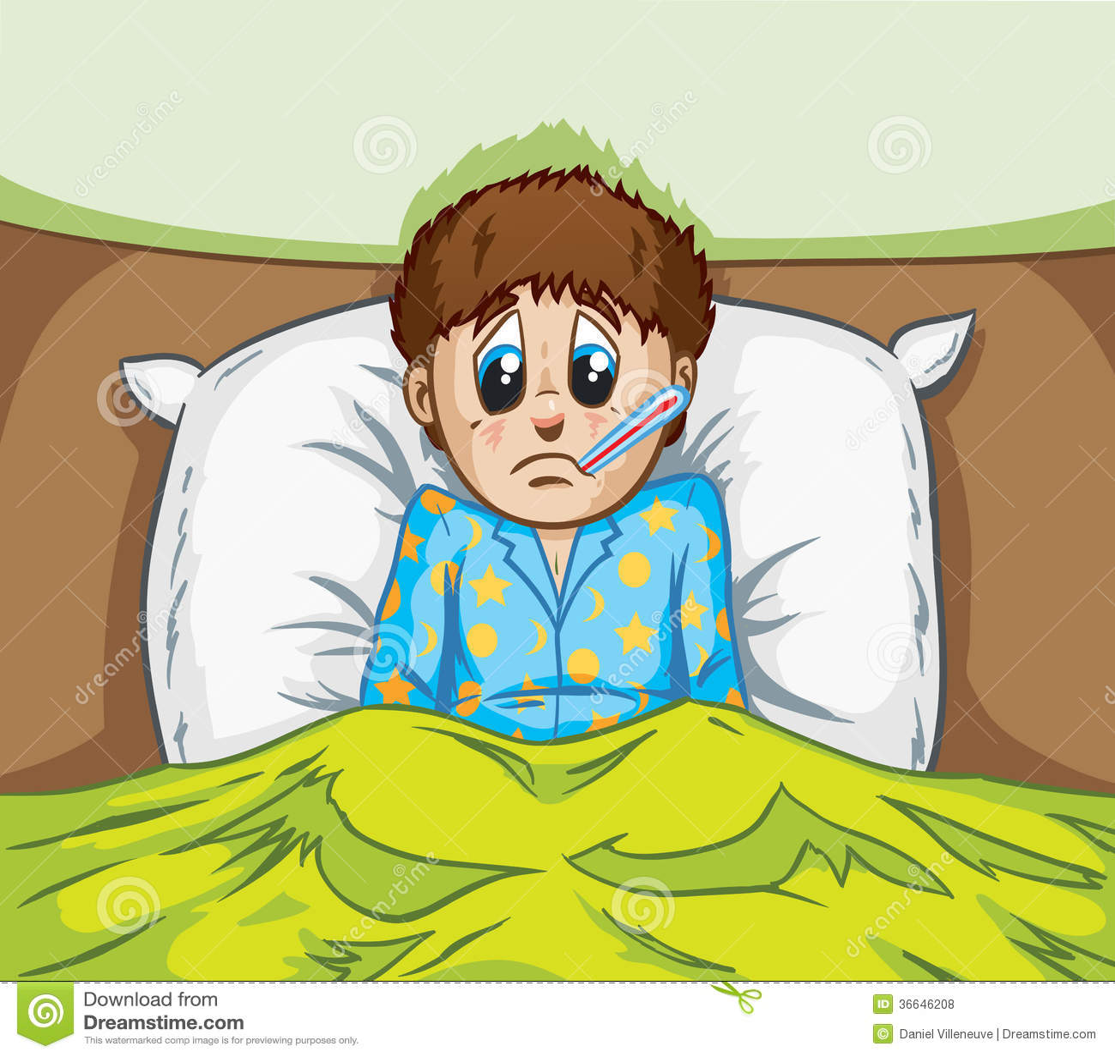 Sick Boy Royalty Free Stock Photos - Image: 36646208