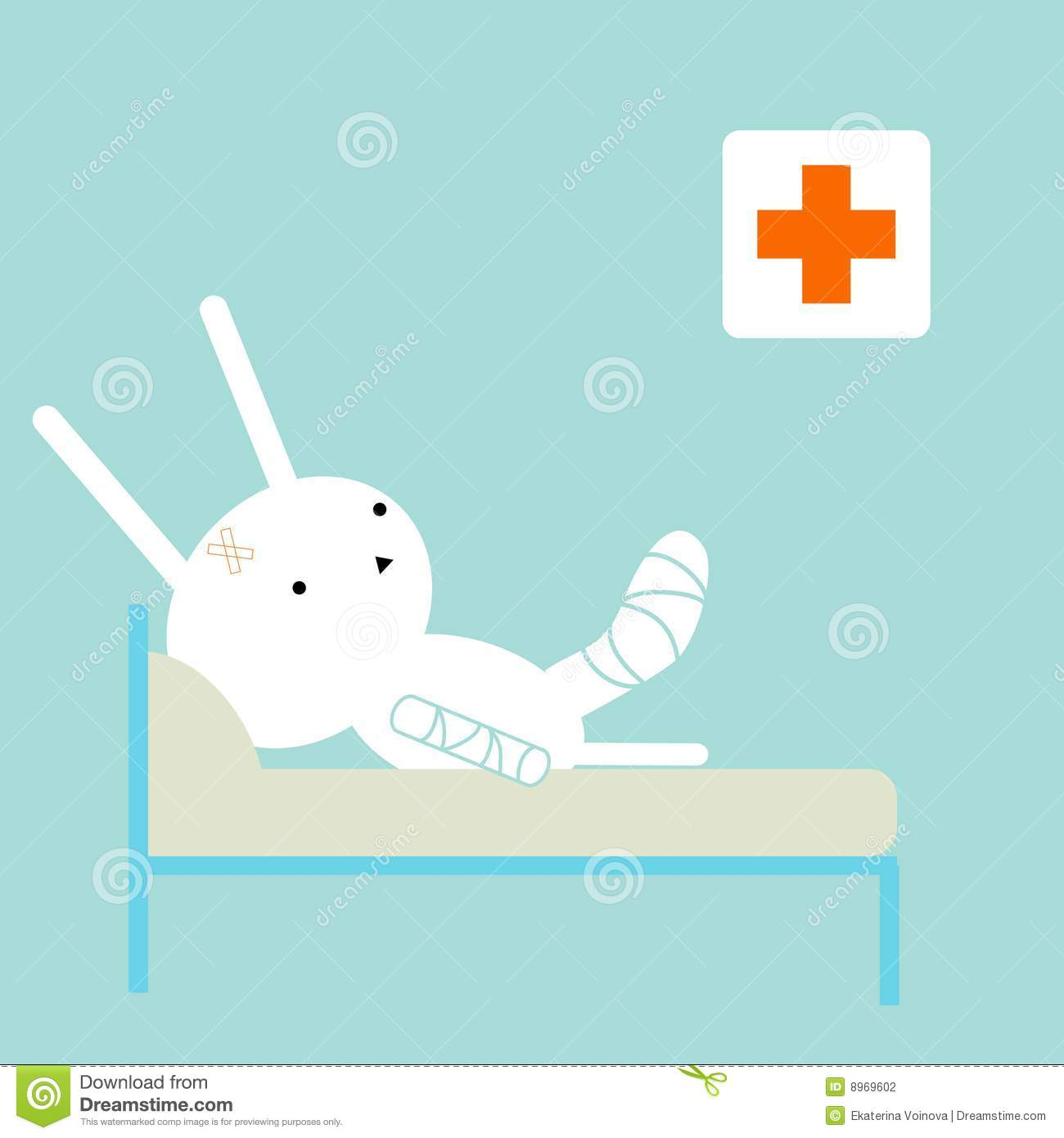 sick bunny stock photography   image 8969602