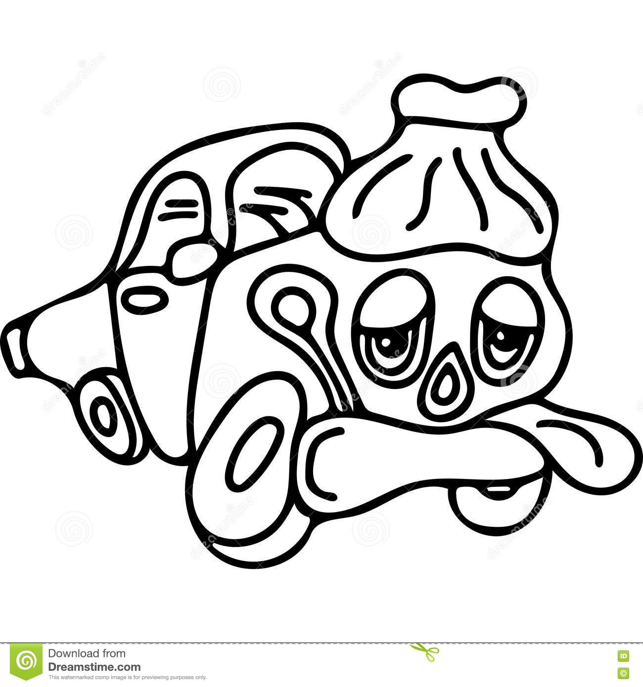 Sick car kids coloring page stock illustration for Sick coloring pages