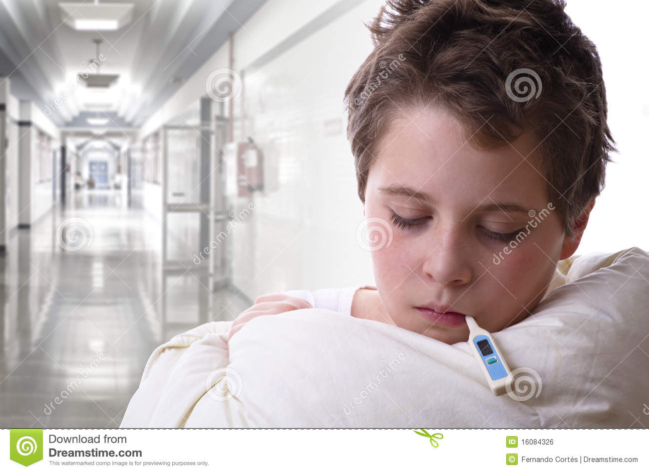 Sick In Hospital Images : Sick Child In Hospital Royalty Free Stock Image - Image: 16084326