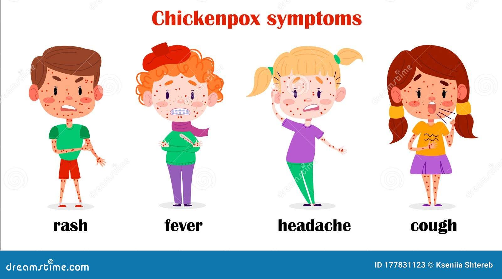 Sick Children Chickenpox Symptoms. Kids Diseases ...