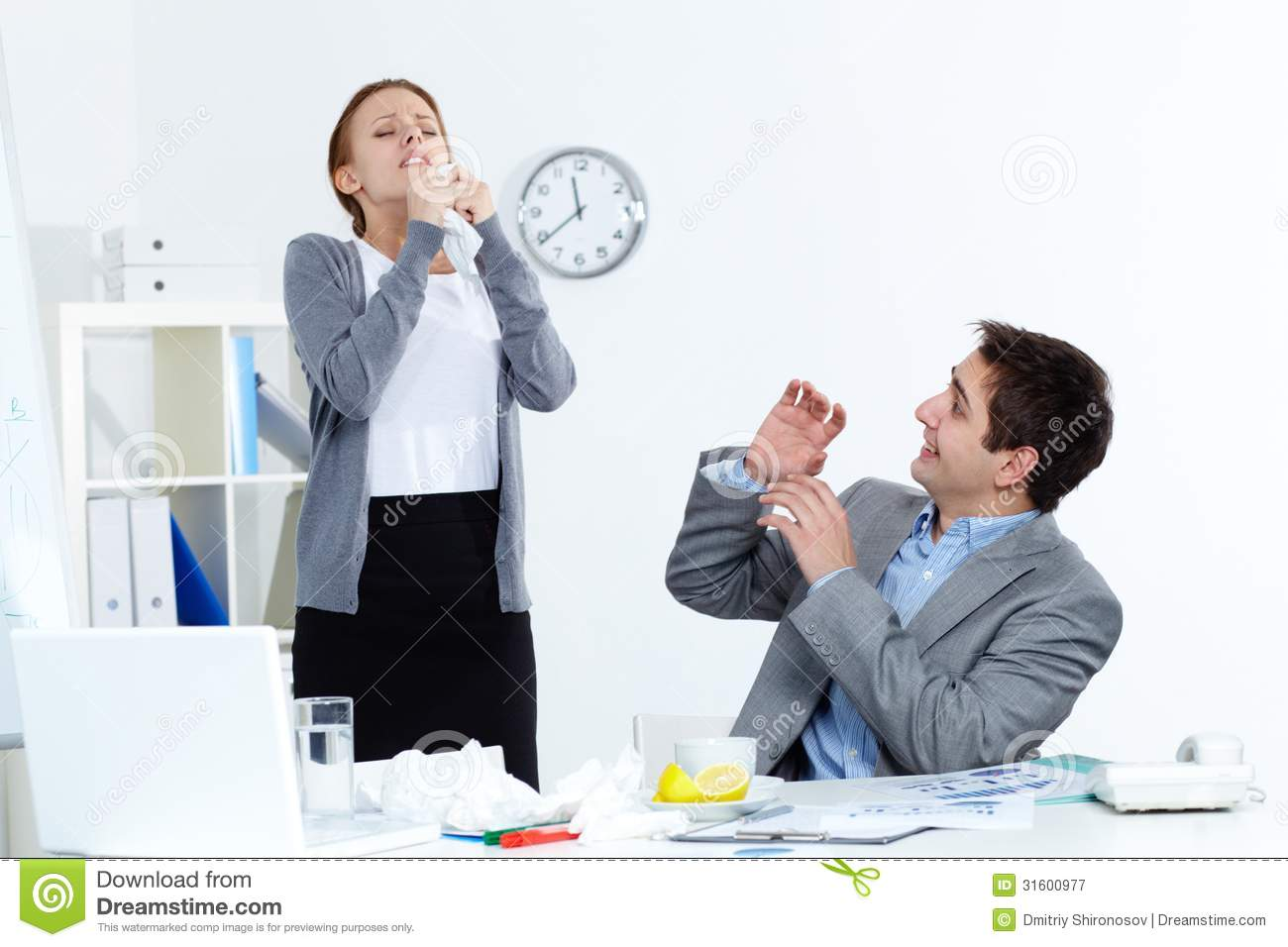 Sick Colleague Royalty Free Stock Photography - Image ...