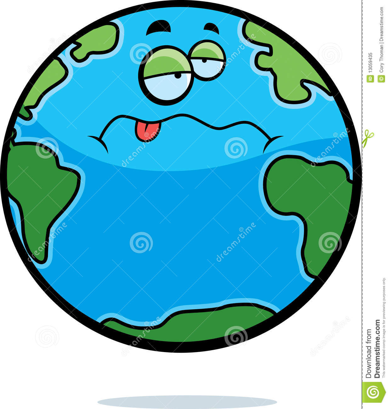 sick earth stock vector illustration of earth  nauseous images of planet earth clip art Planet Mart Cliart