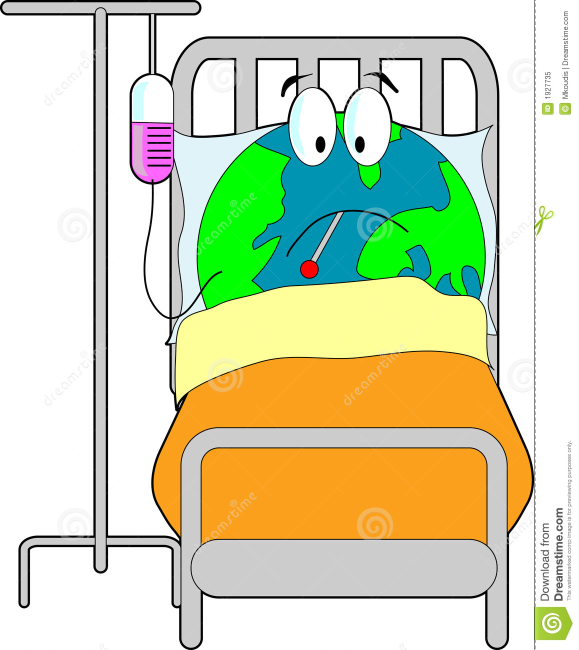 Sick Earth stock vector. Illustration of america f0a5925efb7