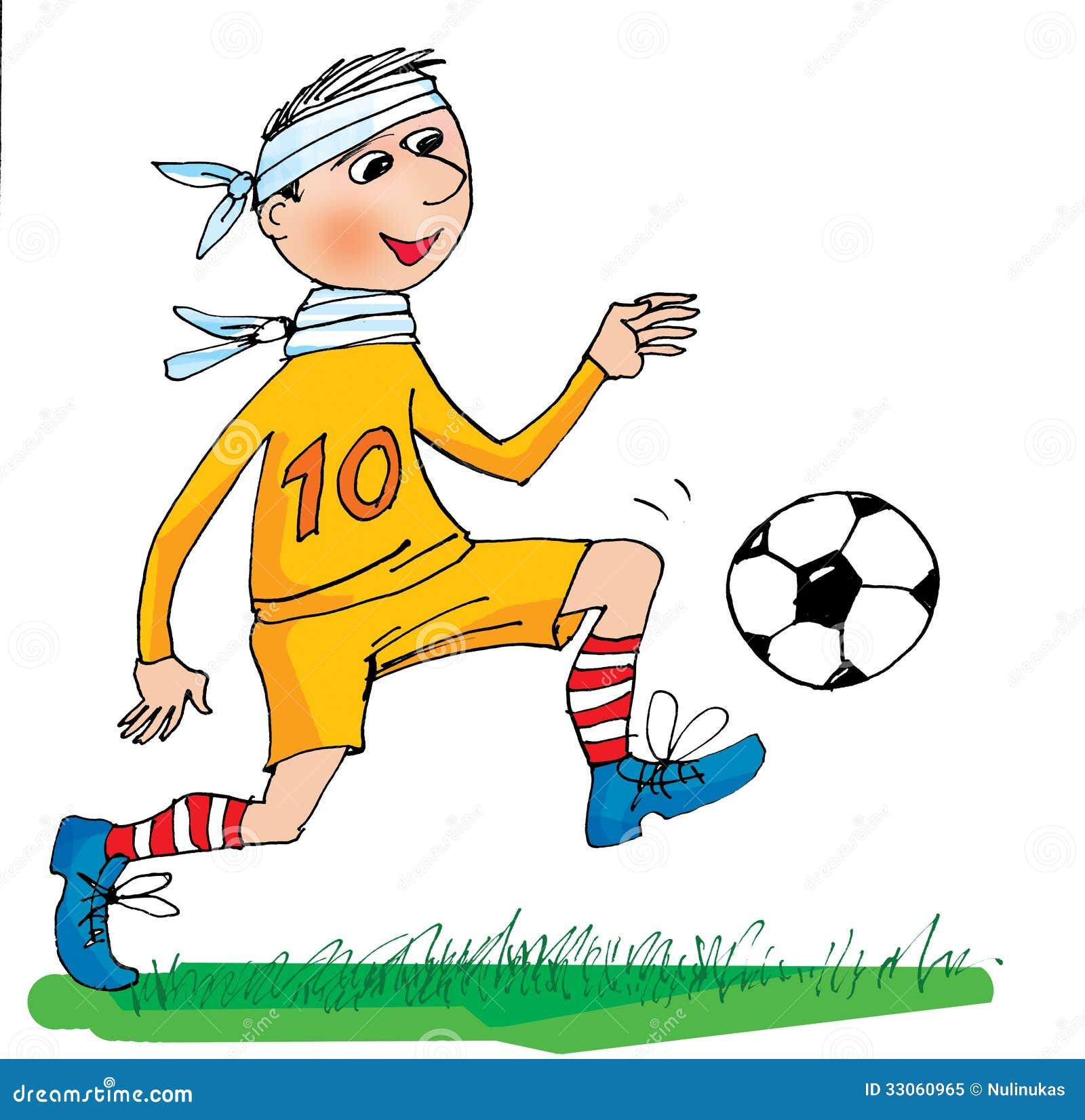 sick football player  cartoon royalty free stock photo