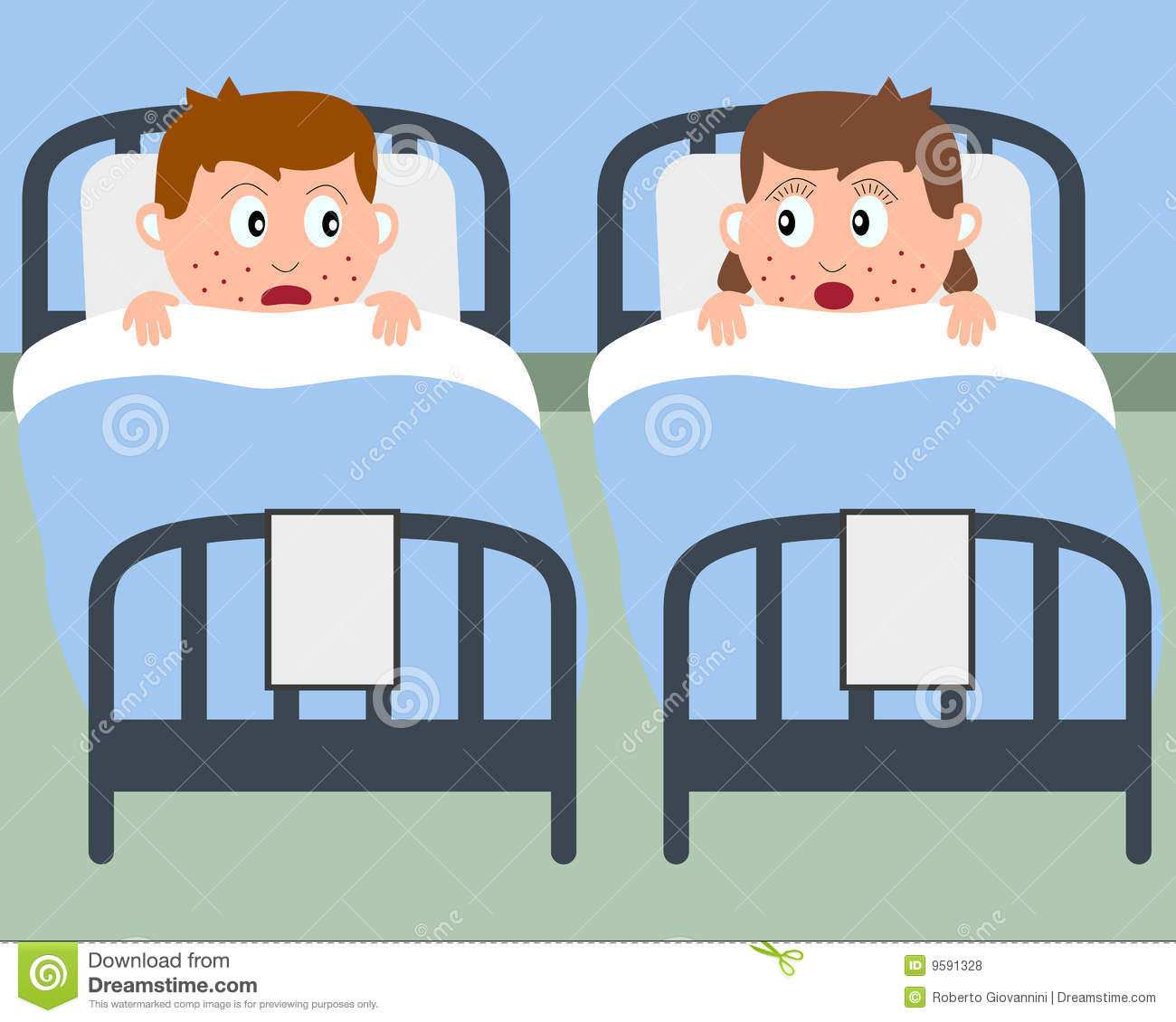 Sick Kids In Hospital Beds Royalty Free Stock Photos - Image: 9591328