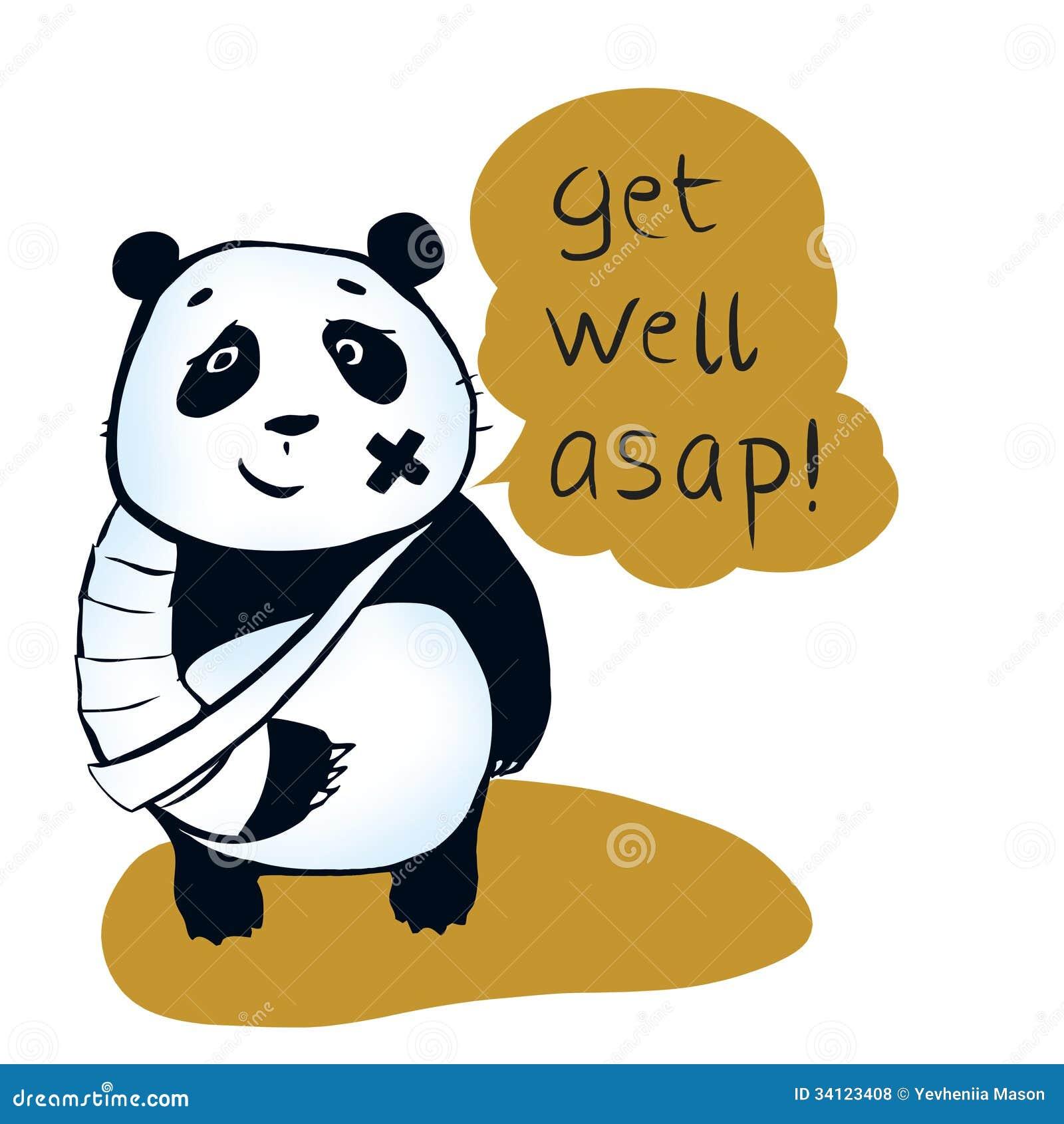 If you are sick, may panda bear encourage you Get well asap! Panda ...