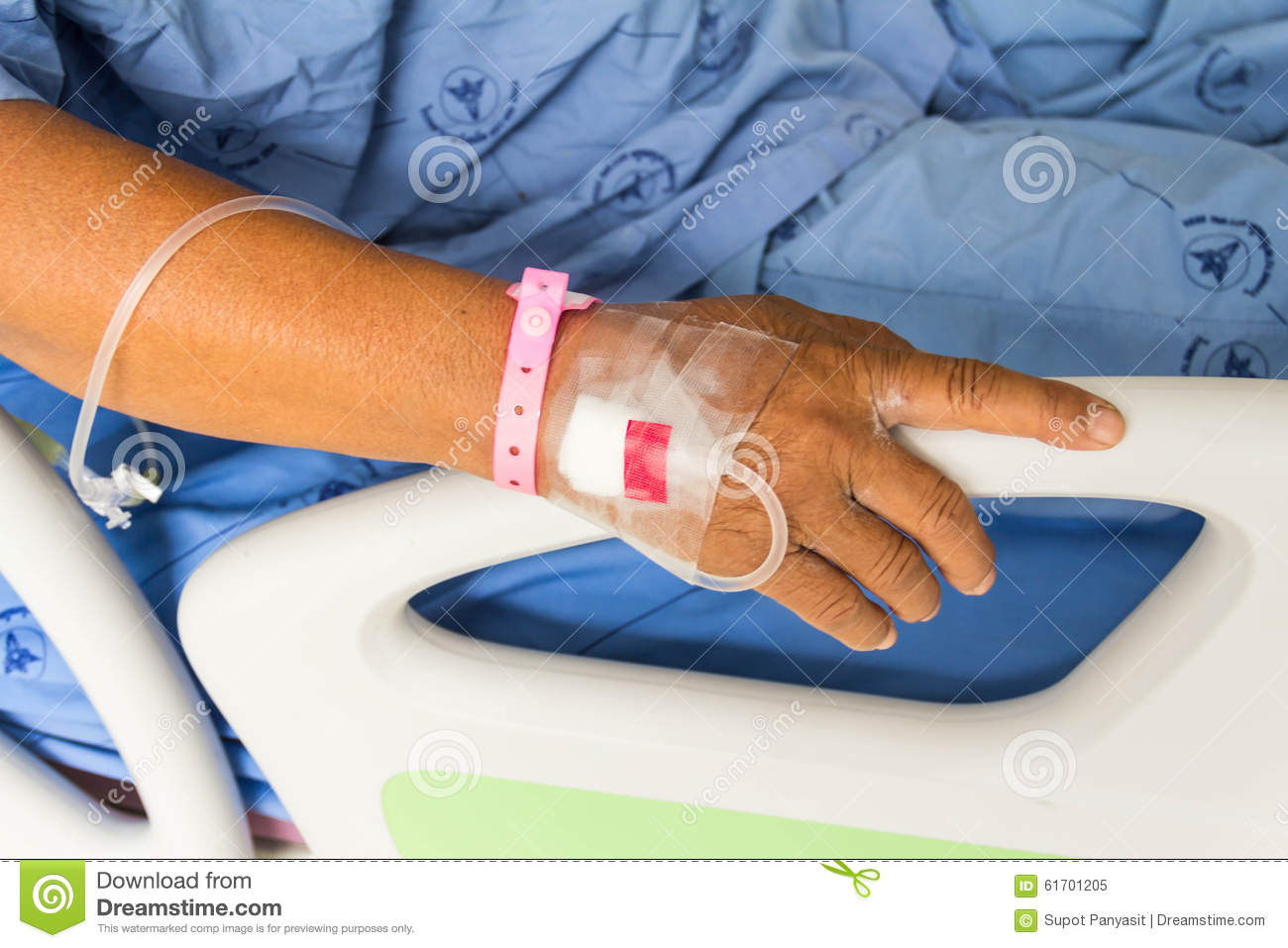 Water bed for patients - Sick Patient Lying On Bed In Hospital For Medical Royalty Free Stock Photo