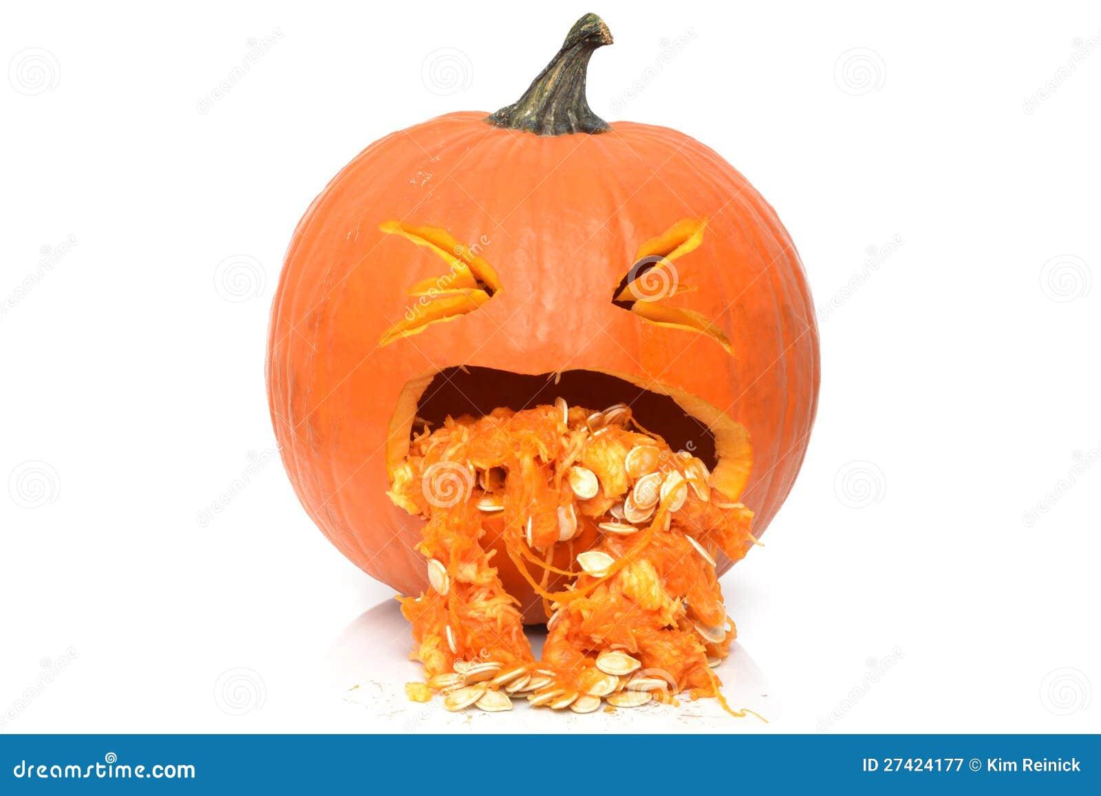 Sick Pumpkin Royalty Free Stock Photography - Image: 27424177