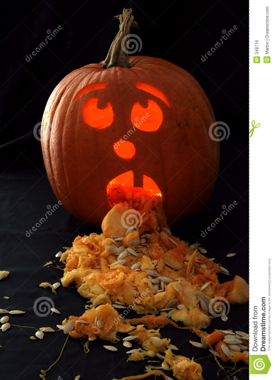 Sick Pumpkin Royalty Free Stock Image Image 348716