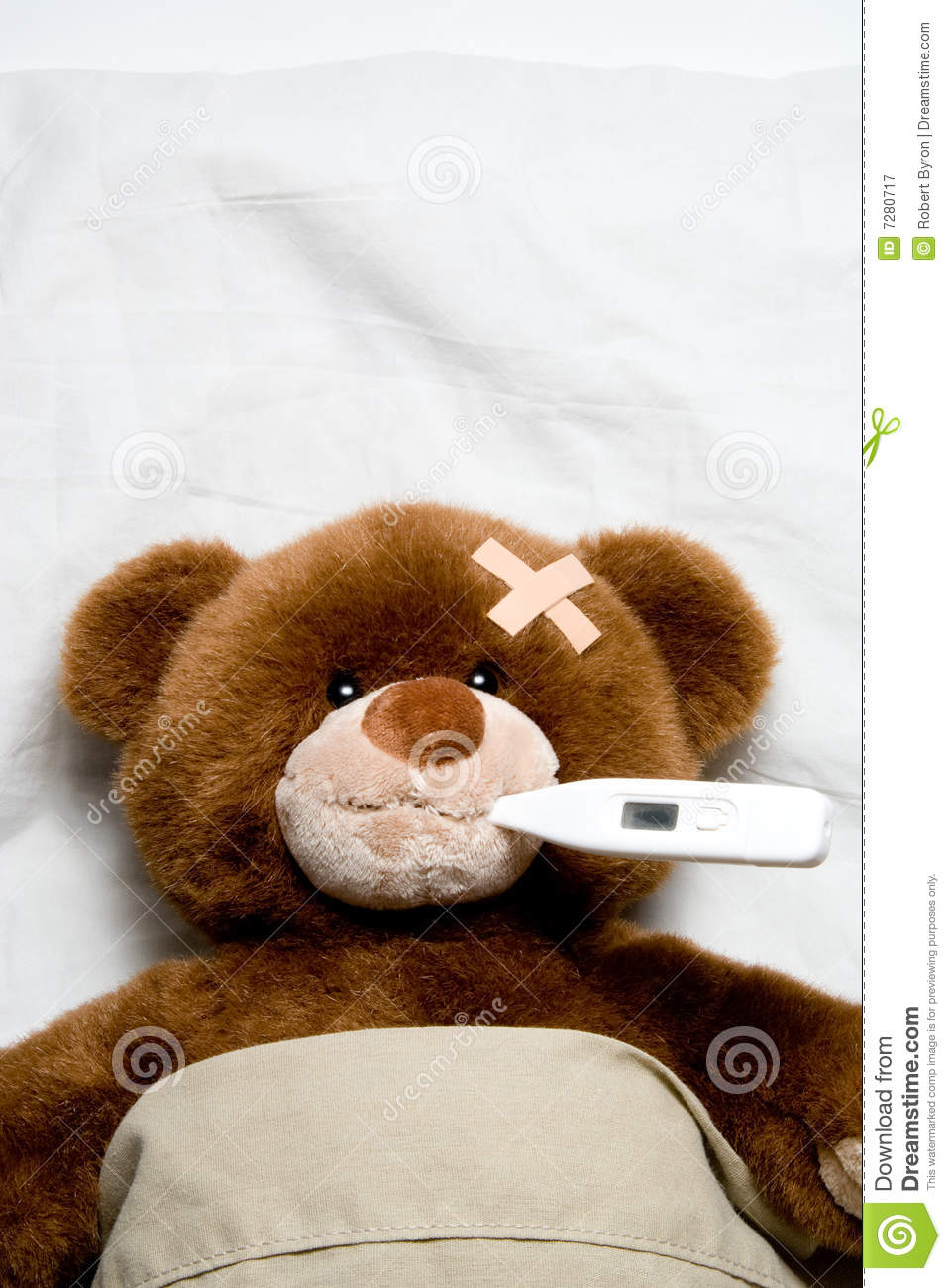 Clip Art Sick Teddy Bear