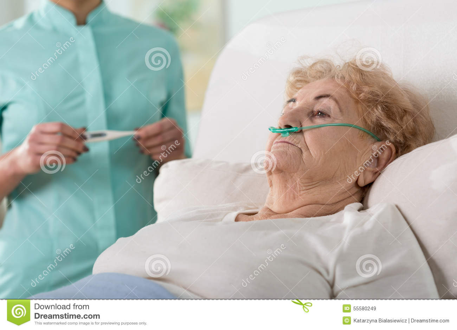sick woman stock image image of pensioner caucasian