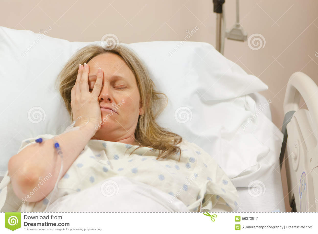 sick woman in hospital stock image image of disease