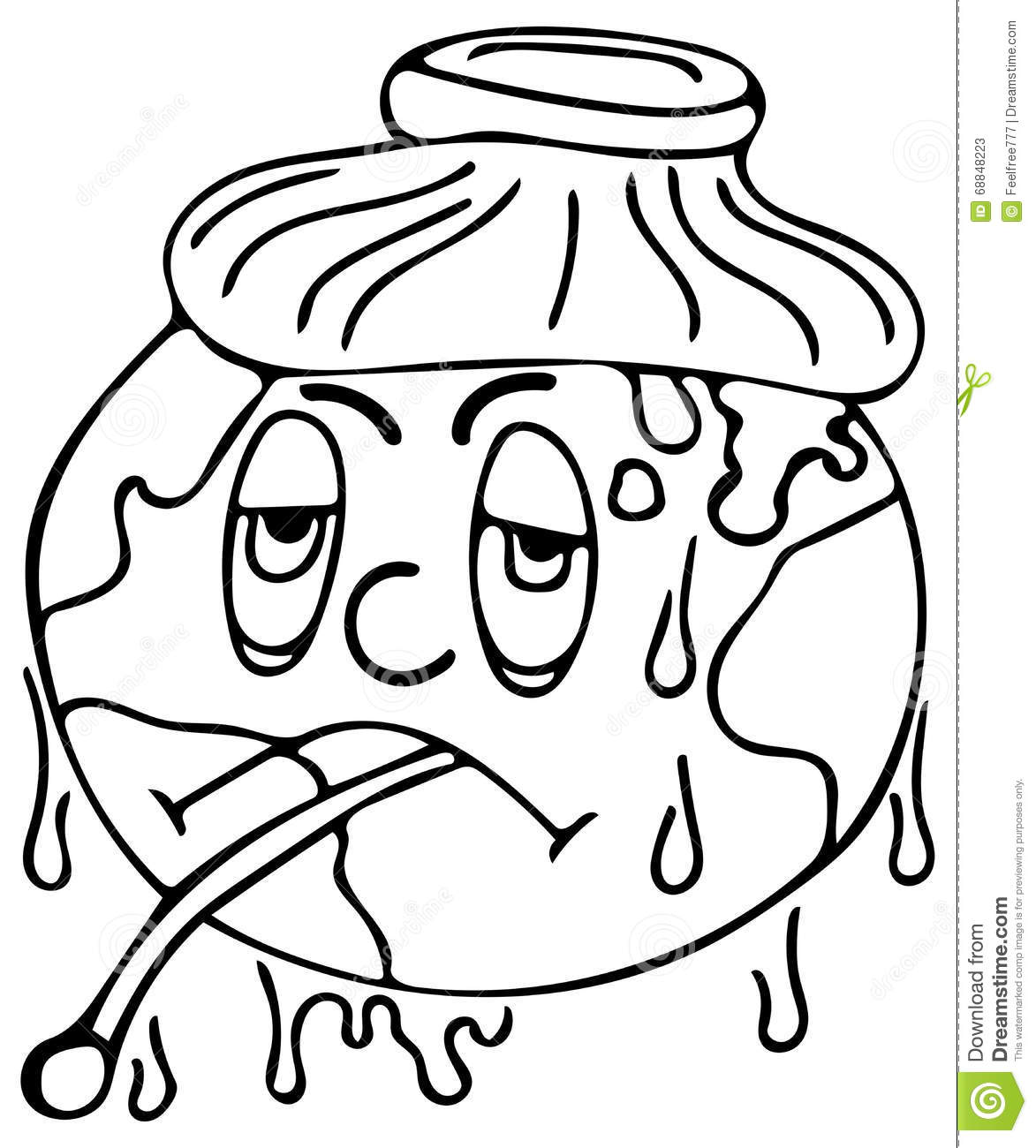 Sick world coloring pages stock illustration image 68848223 for Sick coloring pages