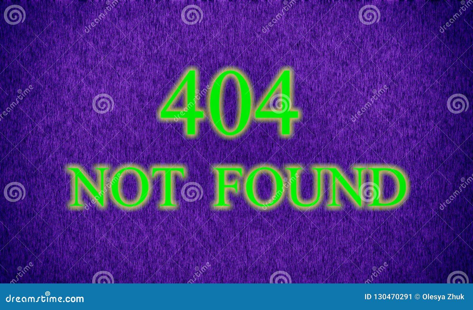 Sida att inte grunda, serverfel 404