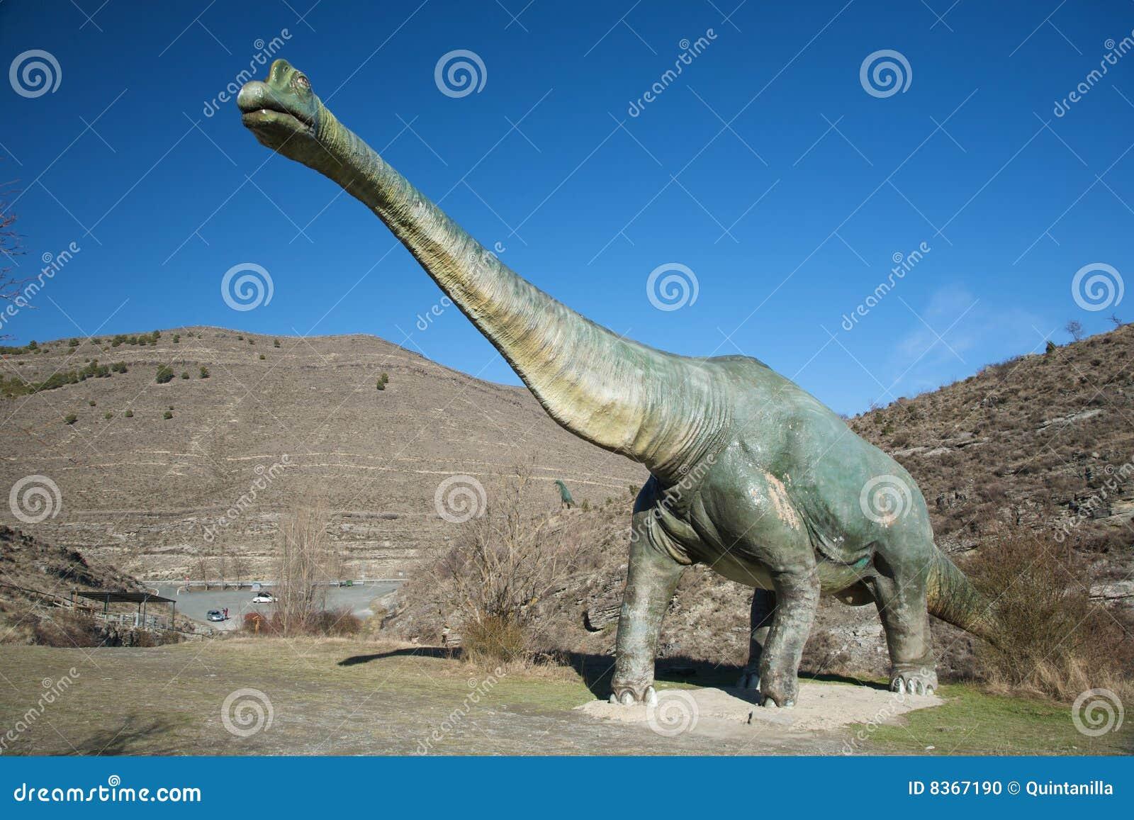 Sida av den stora dinosauren