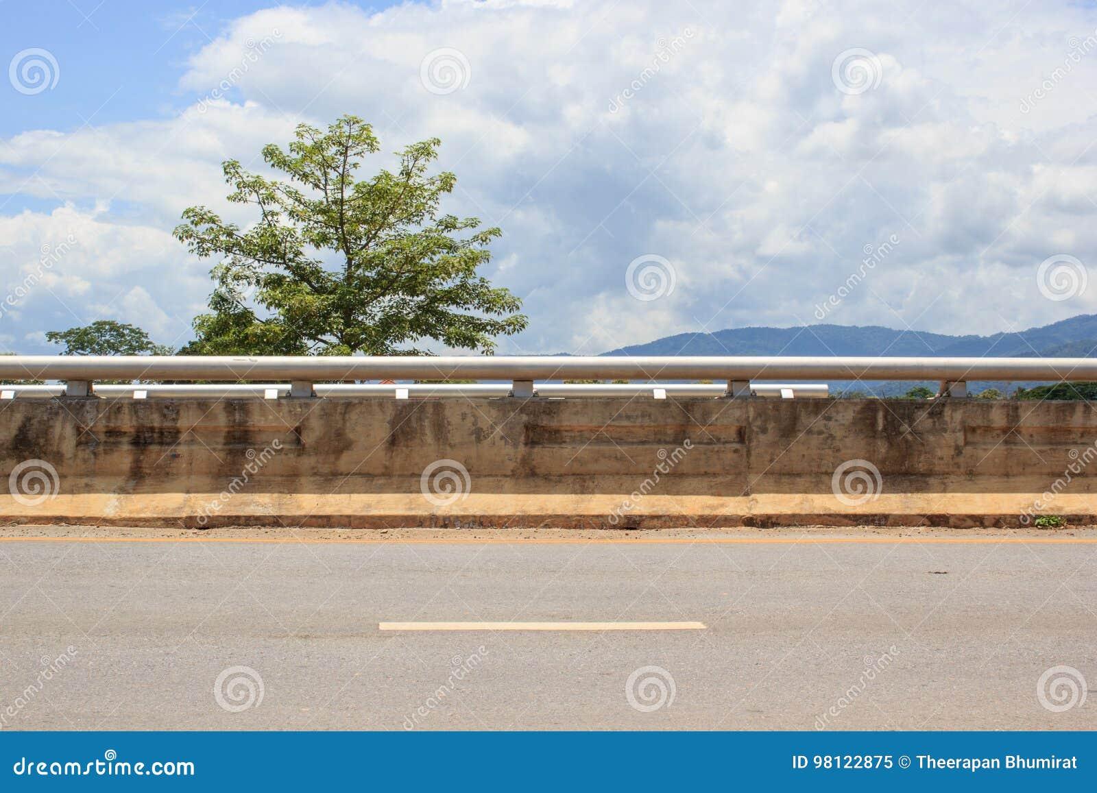Sida av vägen med trädet