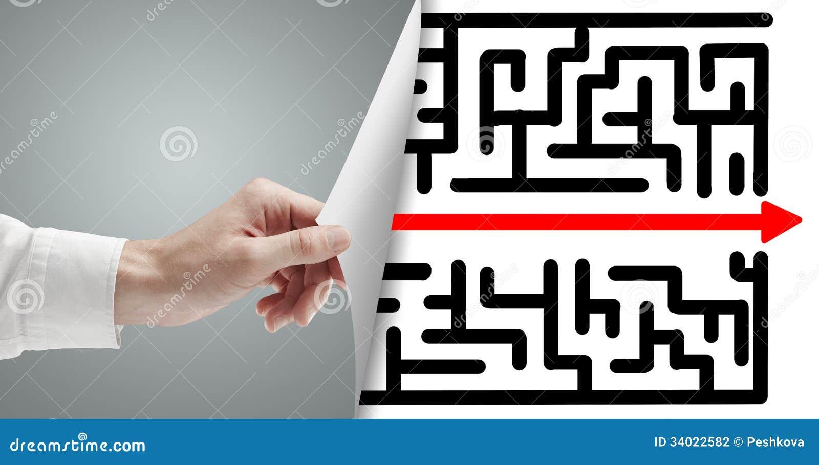 Sida med labyrint